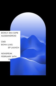 Poster for Boha's EP launch in Graphic Design