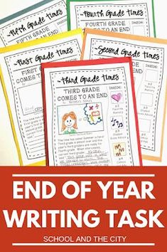 End Of Year Writing Project - School and the City Writing Prompts 2nd Grade, Teaching Writing, Writing Skills, Writing Activities, Writing Workshop, Writing Ideas, End Of School Year, End Of Year, Student Gifts