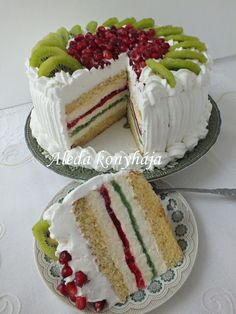 Aleda konyhája: Nemzeti torta Pretty Cakes, Vanilla Cake, Recipes, Foods, Beautiful Cakes, Food Food, Food Items, Recipies, Ripped Recipes
