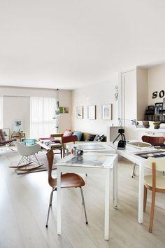 Un appartement ouvert et lumineux à Madrid (via Bloglovin.com )