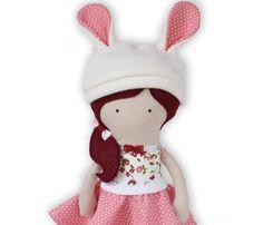 Handmade Bunny Cloth Doll Handmade Rag Doll by RibizliDesign