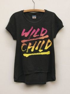 Wild Child tee for girls  #kids  $34  www.junkfoodclothing.com
