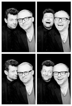 Simon Pegg and Andy Serkis...Way too awesome