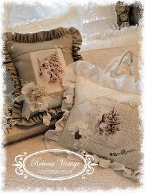 Christmas pillows: A Gathering Place: ~LET THE CHRISTMAS CREATING BEGIN~