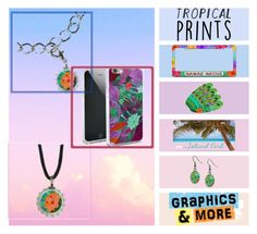 """""""Tropical Prints"""" by graphicsandmore ❤ liked on Polyvore featuring tropicalprints and hottropics"""