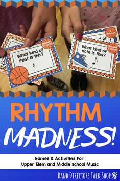 If you are looking for some fun March music madness lessons and activities, this rhythm game is perfect! Students will have fun with these fun basketball rhythm cards & games, perfect timing for March Madness! Your music students and sports lovers will have a ball this spring! Great for upper elementary music, beginning band, choir and orchestra. 4th grade music lessons, 5th grade music games, 6th grade music, 7th grade music lessons, #musiceducation #marchmusicmadness #marchmusicgames Music Theory Games, Music Education Games, Rhythm Games, Music Activities, Teaching Music, Music Games, Music Lesson Plans, Music Lessons, Piano Lessons