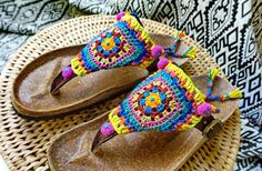 Granny Square Chic Sandals | Flickr - Photo Sharing!