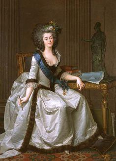 G. Louis Le Barbier Le Jeune (France, XVIIème siècle). Portrait de Mélanie de Forbin, Marquise de Villeneuve-Trans. Huile sur toile, H. 171 cm