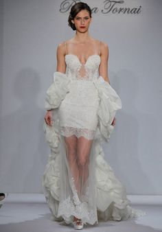 Pnina Tornai for Kleinfeld 4342 Sheath Wedding Dress