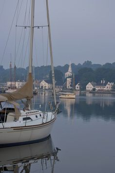Mystic, CT- the church in the background is the one I grew up attending.