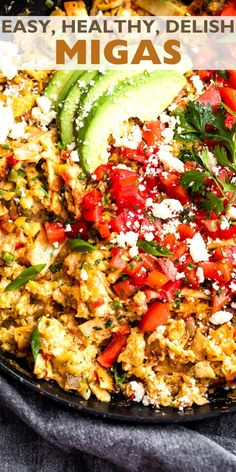 Deliciously cheesy and filled with the crispy crunch of fried tortillas, Migas are one of my favorite quick meals! Give this versatile Tex-Mex egg dish and all its yummy toppings a try – you're sure to love it!