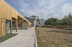 CoRe Architects converts Korean tank bunker into community arts centre - Dr Wong - Emporium of Tings. Cultural Center, Web Magazine, Cool Landscapes, Best Location, Bunker, Community Art, Best Interior, Amazing Architecture, The Locals