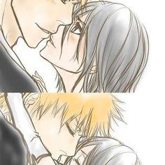 Image about ichiruki! Bleach Ichigo And Rukia, Kuchiki Rukia, Bleach Manga, Manga Art, Anime Manga, Anime Art, Shinigami, Cute Anime Pics, Anime Love