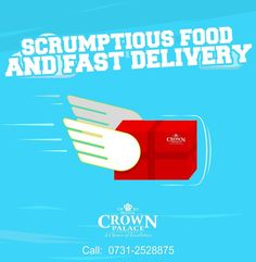 Scrumptious Food & Fast Delivery  #Hotel #Crown #Palace  Call: 0731-2528875 - http://ift.tt/1HQJd81