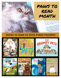 PAWS+TO+READ Book Suggestions, What To Read, Books To Read, Pets, Reading, Animals, Animales, Animaux, Reading Books