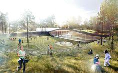BIG architects: ice hockey rink in umea - designboom | architecture & design magazine