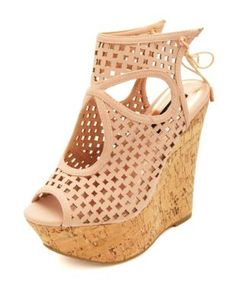 Laser Cut-Out Peep Toe Platform Wedges from Doll House :) I absolutely luv these!