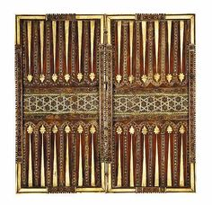 A Rare Syrian or Mamluk Egypt ivory inlaid micro mosaic decorated games board  - Country of Origin: Damascus Syria in the Ottoman Empire - Date of Origin Circa A.D.1550