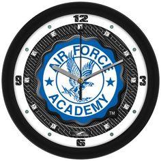 NCAA Air Force Falcons Carbon Fiber Textured Wall Clock