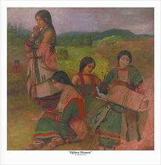 Eastman Johnson: Paintings and Drawings of the Lake Superior Ojibwe, Ojibwa women with cradleboard, 1856