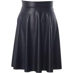 Rozkloszowana spódnica MW06 (czarny 38)