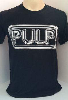 fb6124d8dd1 PULP Jarvis Cocker Britpop rock band black handmade screen t shirt size  S