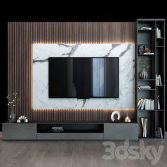 models: Other - TV shelf 0106 Modern Tv Unit Designs, Living Room Tv Unit Designs, Interior Design Living Room, Tv Unit Decor, Tv Wall Decor, Wall Tv, Modern Tv Room, Modern Tv Wall Units, Modern Wall