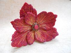 Embroidered Flower Fascinator Tagt Team by JeanineDesigns