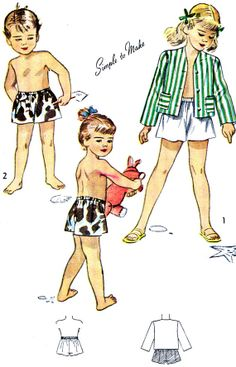 1940s Toddler Childs Shorts and Blazer Pattern by paneenjerez, $9.00
