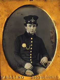 c. 1850, [daguerreotype portrait of a New York City Policeman] via I Photo Central