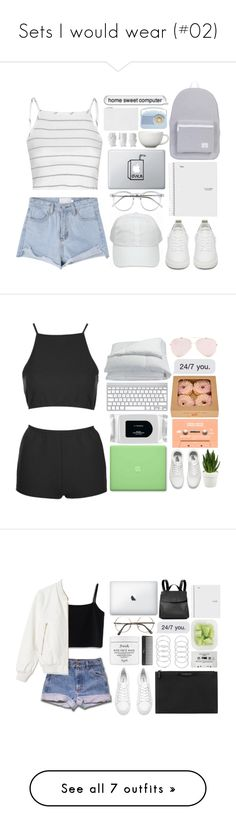 """""""Sets I would wear (#02)"""" by chelsea-beale ❤ liked on Polyvore featuring Glamorous, Golden Goose, Herschel Supply Co., Arabia, Design 55, Whistles, Topshop, MAC Cosmetics, Vans and Sagebrook Home"""
