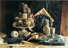 Jacques POIRIER (1928-2002) Trompe l'Oeil