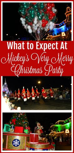 Mickey's Very Merry Christmas Party is a specially ticketed event at Walt Disney World. Should you attend? What can you expect? Read our post to know before you go! Disney World Rides, Disney World Tickets, Disney World Food, Disney World Florida, Disney World Parks, Disney World Planning, Disney World Vacation, Disney World Resorts, Disney Vacations