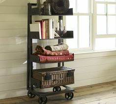 harvey wheeled bookcase (steel)