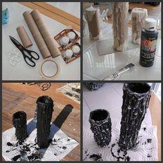 Schwarze Kerzenständer (Anleitung)