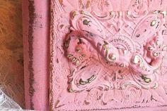 ornate handle vintage sewing drawer box shabby by PrincessPeony, $16.00