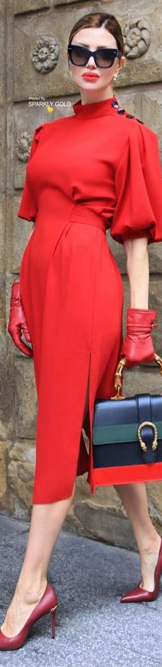 Classy Red Dress!!