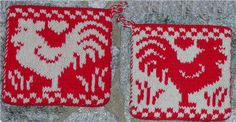 Rooster, Pot Holder, Double knitting - Media - Knitting Daily