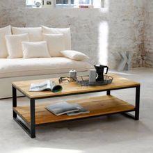 País da américa para fazer a velha madeira de luxo sala de estar mesa de café, Móveis de madeira maciça, Ferro forjado casuais personalizado rectangul(China (Mainland))
