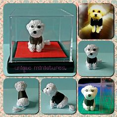 3D miniature dog