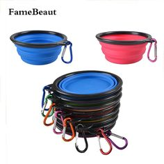 FameBeaut New Foldable Silicone Dog Bowl Candy Color Outdoor Travel Portable Collapsible Puppy Feeding Dishes Water Bowl On Sale #clothing,#shoes,#jewelry,#women,#men,#hats,#watches,#belts,#fashion,#style