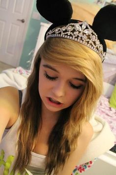 I love her hair and her crown\mickey mouse ears and her body