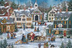 The Spirit of Christmas - Bonnie White - Folk Art Painting