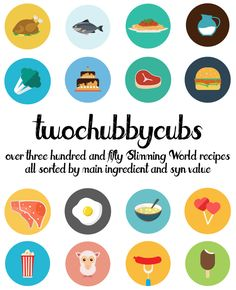 PLEASE LIKE AND SHARE! Over 350 Slimming World friendly recipes from the guys at twochubbycubs - all sorted by their main ingredient! We've got stews, burgers, pizzas, pasta, chicken...all sorts! So many syn-free recipes. It's a completely free of charge recipe list - enjoy! Please share!