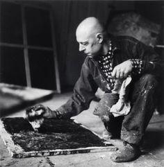 Alexander Liberman, Jean Dubuffet, New York City, 1952