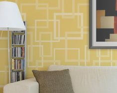 Modern Wall Stencil Hip to be Square by royaldesignstencils, $49.00