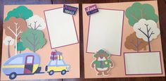2 Page 12x12 Camping Themed Layout by PricelessPages on Etsy