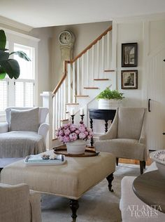 Living Room Design ~ Atlanta Homes & Lifestyles Home Living Room, Living Room Designs, Living Room Decor, Living Spaces, Decor Room, Home Decor, Living Area, Style Deco, Atlanta Homes