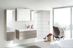 Wandspiegelschrank im Badezimmer-EPOK-helles Holzfurnier-Einrichtung