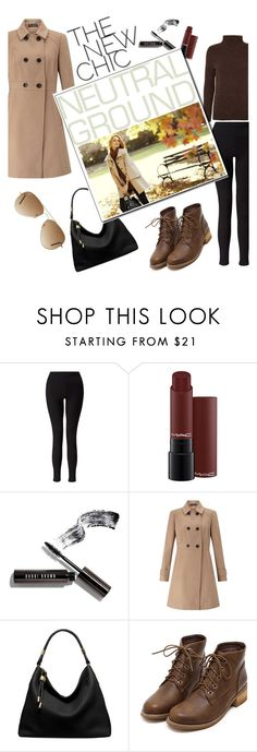 """""""neutral leaves"""" by smillafrilla ❤ liked on Polyvore featuring Miss Selfridge, Bobbi Brown Cosmetics, Michael Kors, Ann Taylor and Ray-Ban"""